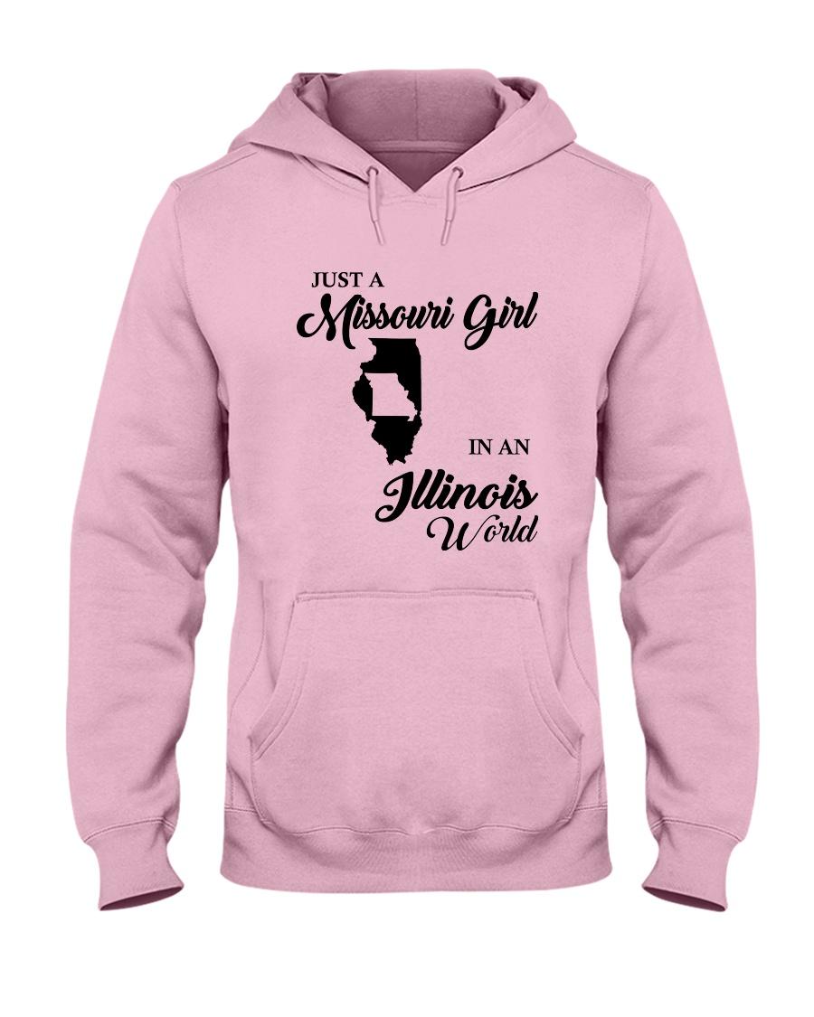 JUST A MISSOURI GIRL IN AN ILLINOIS WORLD Hooded Sweatshirt