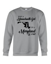JUST A MASSACHUSETTS GIRL IN A MARYLAND WORLD Crewneck Sweatshirt thumbnail