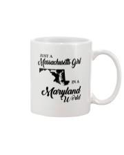 JUST A MASSACHUSETTS GIRL IN A MARYLAND WORLD Mug thumbnail