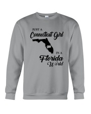 JUST A CONNECTICUT GIRL IN A FLORIDA WORLD Crewneck Sweatshirt thumbnail