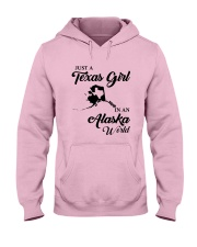 JUST A TEXAS GIRL IN AN ALASKA WORLD Hooded Sweatshirt front