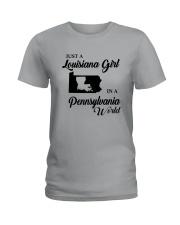 JUST A LOUISIANA GIRL IN A PENNSYLVANIA WORLD Ladies T-Shirt thumbnail