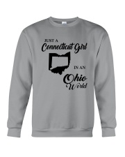 JUST A CONNECTICUT GIRL IN An OHIO WORLD Crewneck Sweatshirt thumbnail