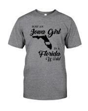 JUST AN IOWA GIRL IN A FLORIDA WORLD Classic T-Shirt thumbnail