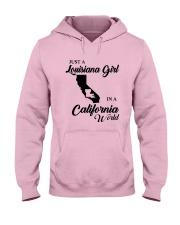 JUST A LOUISIANA GIRL IN A CALIFORNIA WORLD Hooded Sweatshirt front