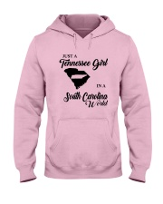 JUST A TENNESSEE GIRL IN A SOUTH CAROLINA WORLD Hooded Sweatshirt front