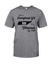 JUST A PENNSYLVANIA GIRL IN A TENNESSEE WORLD Classic T-Shirt thumbnail
