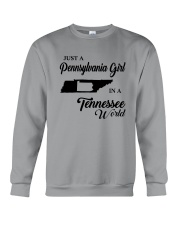 JUST A PENNSYLVANIA GIRL IN A TENNESSEE WORLD Crewneck Sweatshirt thumbnail