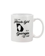 JUST AN ILLINOIS GIRL IN A GEORGIA WORLD Mug thumbnail