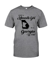 JUST A MINNESOTA GIRL IN A GEORGIA WORLD Classic T-Shirt thumbnail