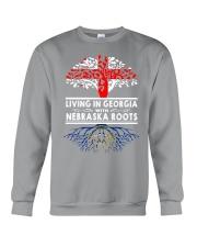 LIVING IN GEORGIA WITH NEBRASKA ROOTS Crewneck Sweatshirt thumbnail