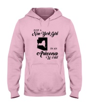 JUST A NEW YORK GIRL IN AN ARIZONA WORLD Hooded Sweatshirt front