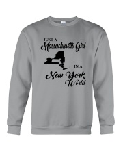 JUST A MASSACHUSETTS GIRL IN A NEW YORK WORLD Crewneck Sweatshirt thumbnail