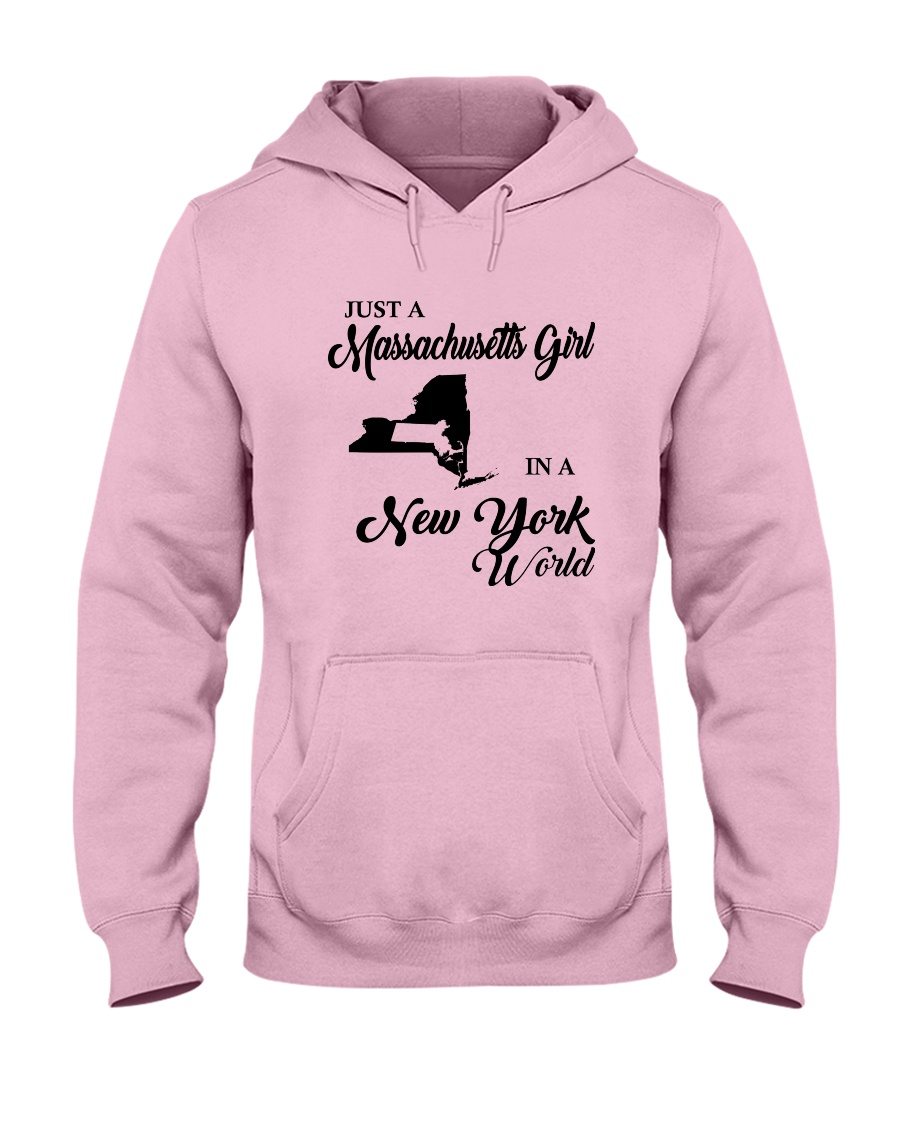 JUST A MASSACHUSETTS GIRL IN A NEW YORK WORLD Hooded Sweatshirt