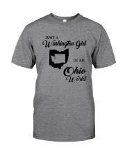 JUST A WASHINGTON GIRL IN AN OHIO WORLD Classic T-Shirt thumbnail