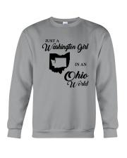 JUST A WASHINGTON GIRL IN AN OHIO WORLD Crewneck Sweatshirt thumbnail