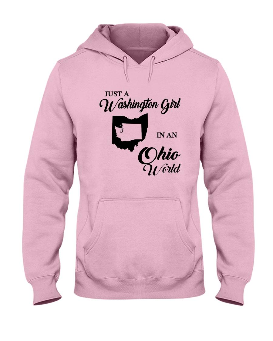 JUST A WASHINGTON GIRL IN AN OHIO WORLD Hooded Sweatshirt
