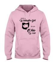 JUST A WASHINGTON GIRL IN AN OHIO WORLD Hooded Sweatshirt front