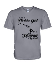 JUST A FLORIDA GIRL IN A HAWAII WORLD V-Neck T-Shirt thumbnail