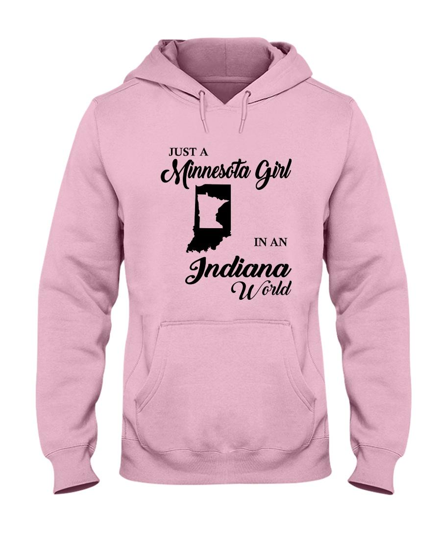 JUST A MINNESOTA GIRL IN AN INDIANA WORLD Hooded Sweatshirt