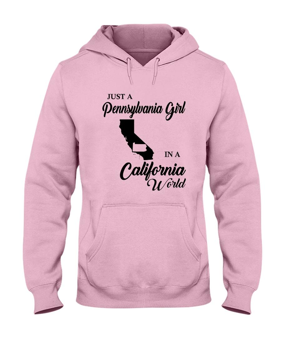 JUST A PENNSYLVANIA GIRL IN A CALIFORNIA WORLD Hooded Sweatshirt