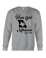 JUST A TEXAS GIRL IN A MISSOURI WORLD Crewneck Sweatshirt thumbnail