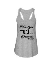 JUST An OHIO GIRL IN An OKLAHOMA WORLD Ladies Flowy Tank thumbnail