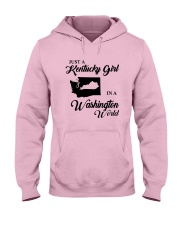 JUST A KENTUCKY GIRL IN A WASHINGTON WORLD Hooded Sweatshirt front