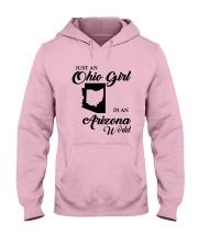 JUST An OHIO GIRL IN An ARIZONA WORLD Hooded Sweatshirt front
