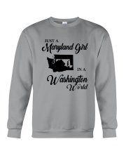 JUST A WASHINGTON GIRL IN A MARYLAND WORLD Crewneck Sweatshirt thumbnail