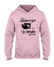 JUST A WASHINGTON GIRL IN A MARYLAND WORLD Hooded Sweatshirt front
