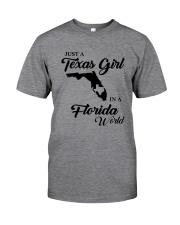 JUST A TEXAS GIRL IN A FLORIDA WORLD Classic T-Shirt thumbnail