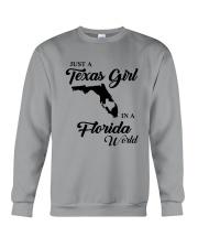 JUST A TEXAS GIRL IN A FLORIDA WORLD Crewneck Sweatshirt thumbnail