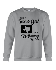 JUST A TEXAS GIRL IN A WYOMING WORLD Crewneck Sweatshirt tile