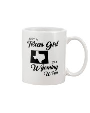 JUST A TEXAS GIRL IN A WYOMING WORLD Mug tile