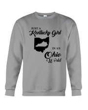 JUST A KENTUCKY GIRL IN AN OHIO WORLD Crewneck Sweatshirt thumbnail