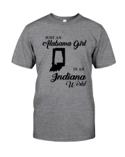 JUST AN ALABAMA GIRL IN AN INDIANA WORLD Classic T-Shirt thumbnail