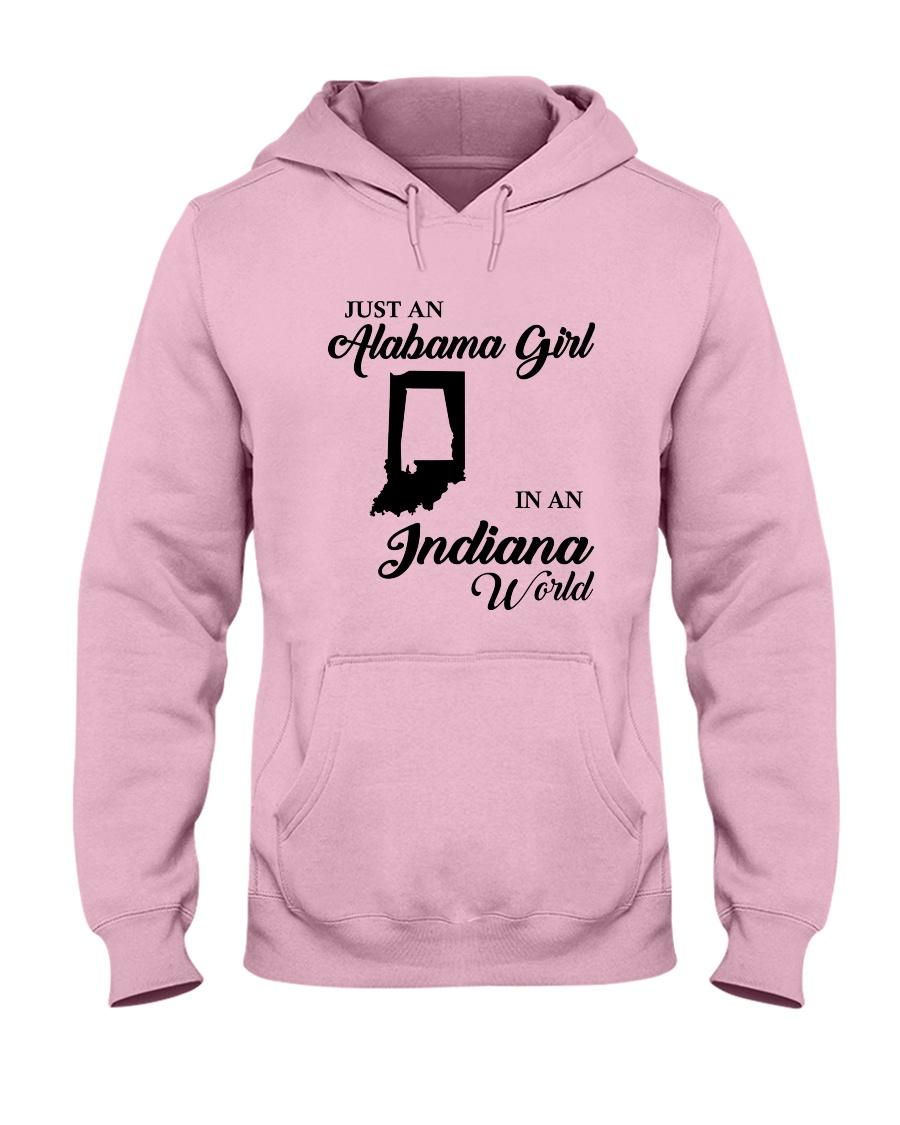 JUST AN ALABAMA GIRL IN AN INDIANA WORLD Hooded Sweatshirt
