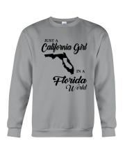 JUST A CALIFORNIA GIRL IN A FLORIDA WORLD Crewneck Sweatshirt thumbnail