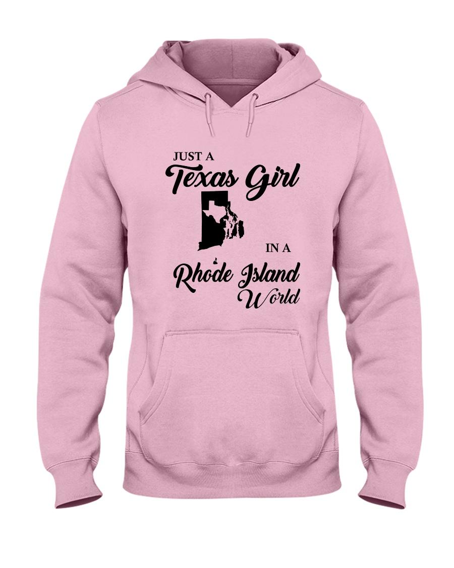JUST A TEXAS GIRL IN A RHODE ISLAND WORLD Hooded Sweatshirt