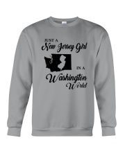 JUST A NEW JERSEY GIRL IN A WASHINGTON WORLD Crewneck Sweatshirt tile
