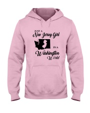 JUST A NEW JERSEY GIRL IN A WASHINGTON WORLD Hooded Sweatshirt front
