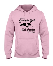 JUST A GEORGIA GIRL IN A NORTH CAROLINA WORLD Hooded Sweatshirt tile