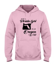 JUST A FLORIDA GIRL IN AN OREGON WORLD Hooded Sweatshirt front