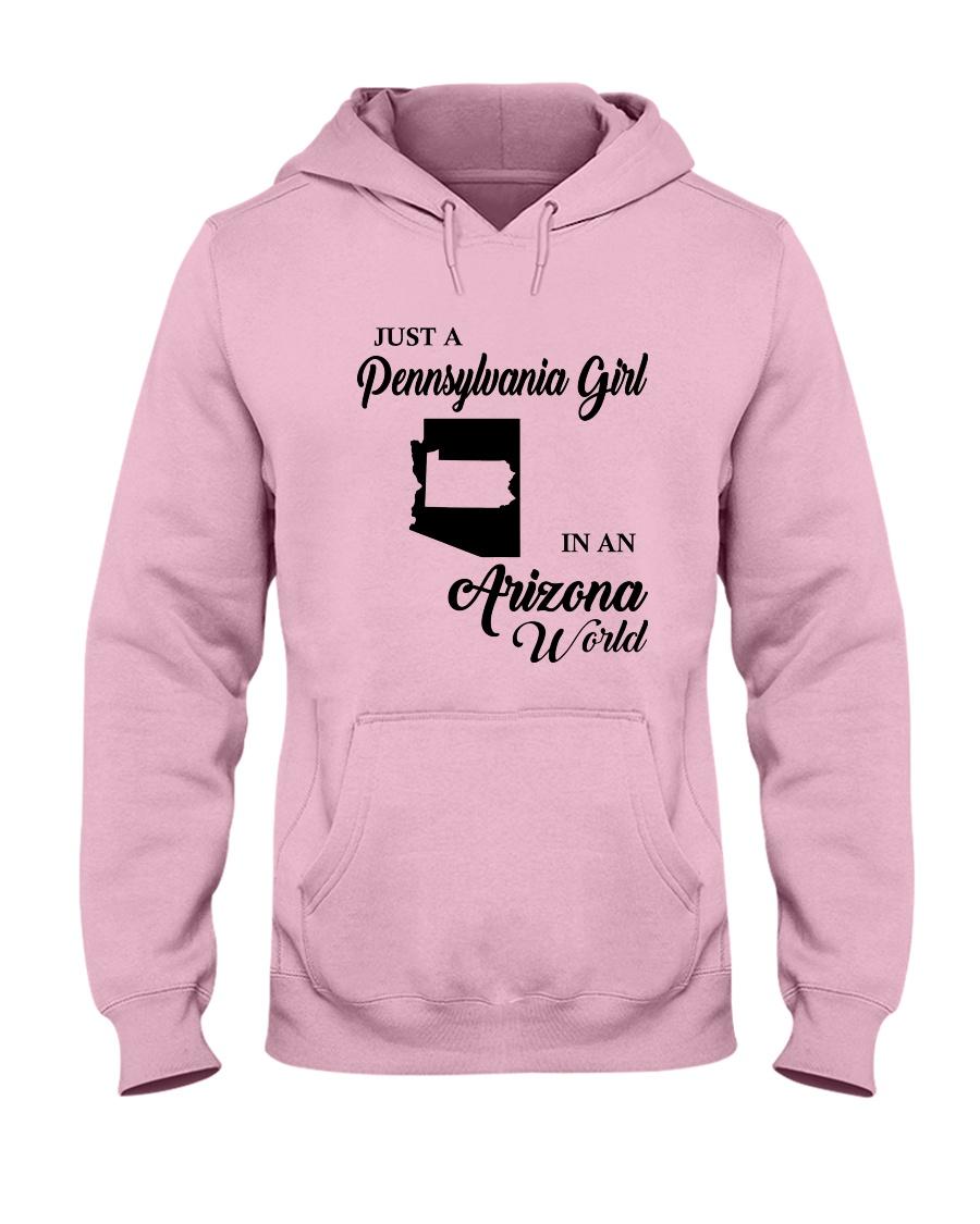 JUST A PENNSYLVANIA GIRL IN AN ARIZONA WORLD Hooded Sweatshirt
