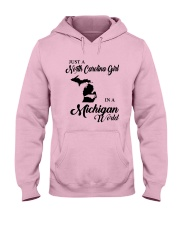 JUST A NORTH CAROLINA GIRL IN A MICHIGAN WORLD Hooded Sweatshirt front