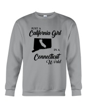 JUST A CALIFORNIA GIRL IN A CONNECTICUT WORLD Crewneck Sweatshirt thumbnail