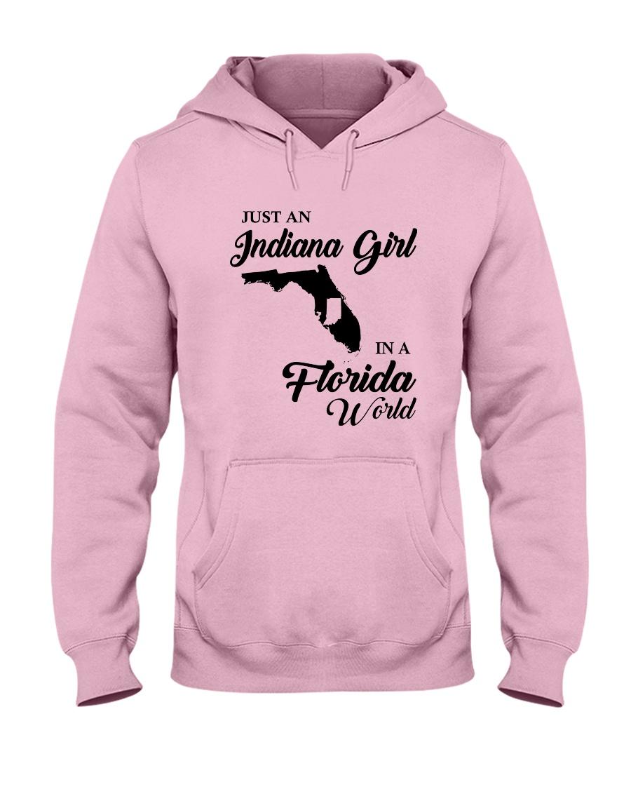 JUST AN INDIANA GIRL IN A FLORIDA WORLD Hooded Sweatshirt