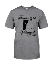 JUST A FLORIDA GIRL IN A VERMONT WORLD Classic T-Shirt thumbnail