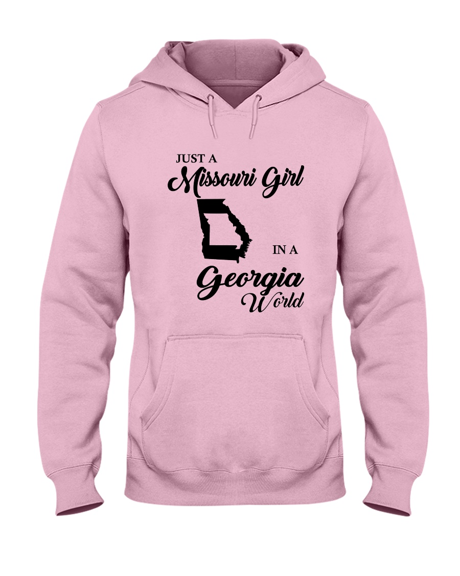 JUST A MISSOURI GIRL IN A GEORGIA WORLD Hooded Sweatshirt